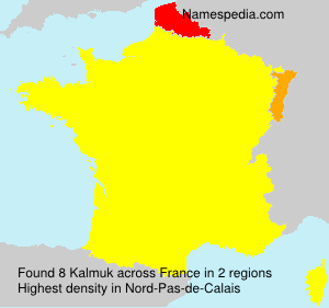 Surname Kalmuk in France