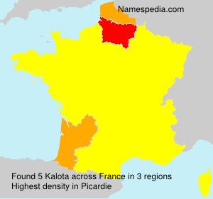 Familiennamen Kalota - France