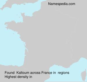 Surname Kaltoum in France