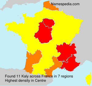 Surname Kaly in France