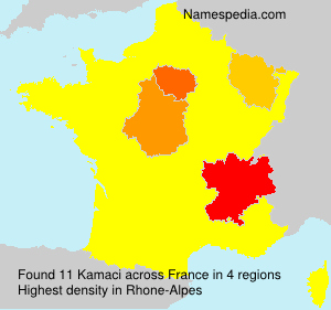 Surname Kamaci in France