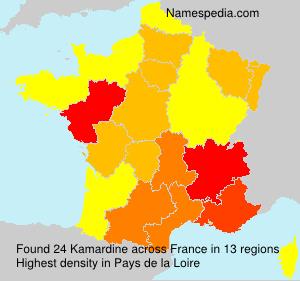 Surname Kamardine in France