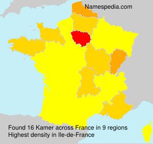 Surname Kamer in France
