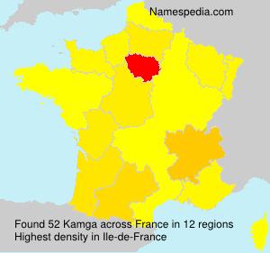 Surname Kamga in France