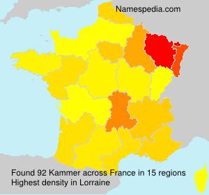 Familiennamen Kammer - France