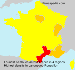 Surname Kamouch in France