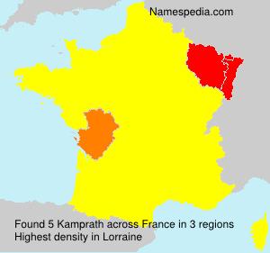 Familiennamen Kamprath - France