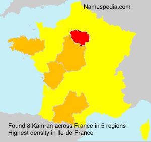 Surname Kamran in France