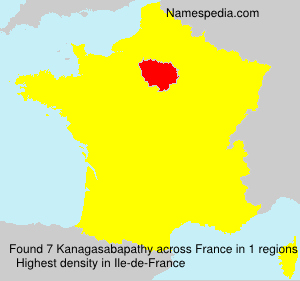 Surname Kanagasabapathy in France