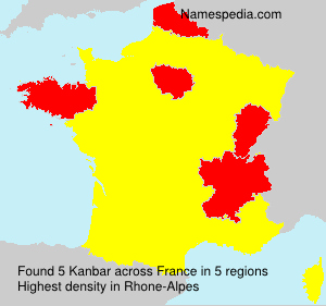 Surname Kanbar in France