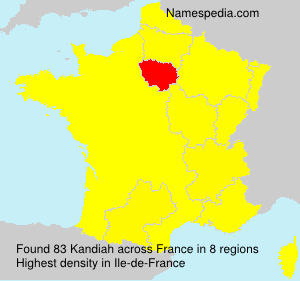 Surname Kandiah in France