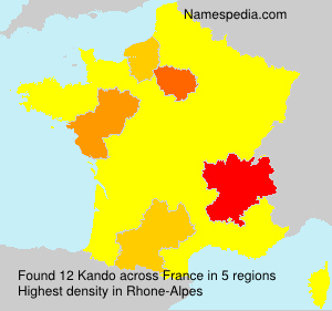 Surname Kando in France