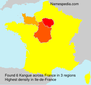 Surname Kangue in France
