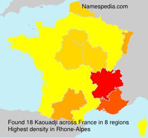 Familiennamen Kaouadji - France