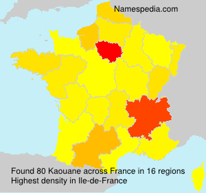 Surname Kaouane in France