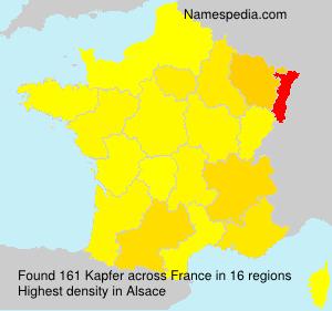 Surname Kapfer in France