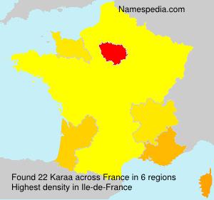 Surname Karaa in France