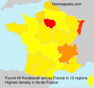Surname Karabacak in France