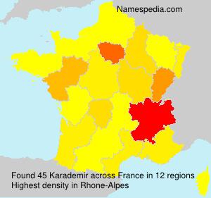 Surname Karademir in France
