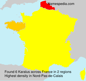 Surname Karalus in France