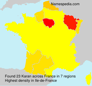 Surname Karan in France