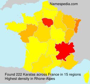 Surname Karatas in France