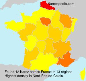 Surname Karcz in France