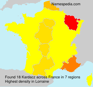 Surname Kardacz in France