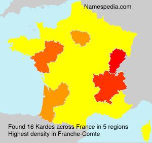 Familiennamen Kardes - France