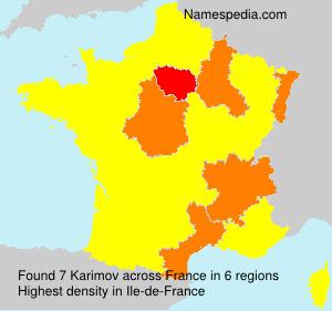 Surname Karimov in France