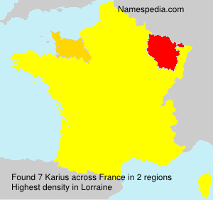 Surname Karius in France