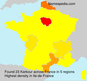 Surname Karkour in France