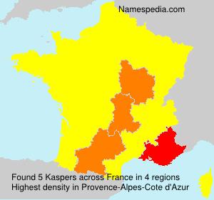 Surname Kaspers in France