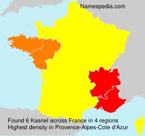 Surname Kasriel in France