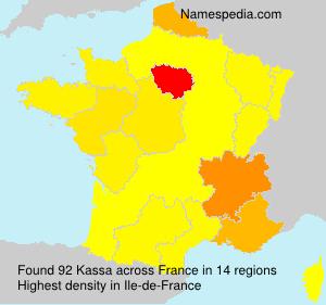 Familiennamen Kassa - France