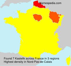 Surname Kastelik in France