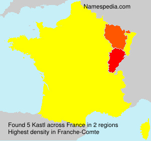 Surname Kastl in France