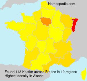 Surname Kastler in France