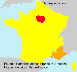 Surname Katherine in France