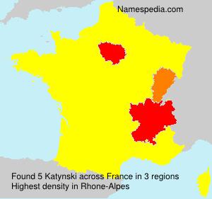 Familiennamen Katynski - France