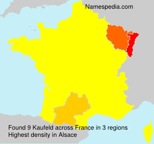 Surname Kaufeld in France