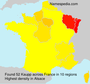 Surname Kaupp in France