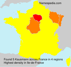 Surname Kausmann in France