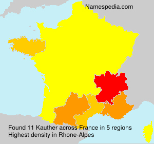 Surname Kauther in France