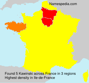 Surname Kawinski in France