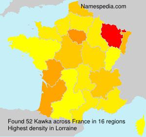 Familiennamen Kawka - France