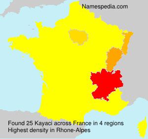 Familiennamen Kayaci - France