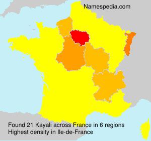 Surname Kayali in France
