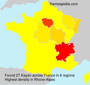 Surname Kayan in France