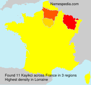 Familiennamen Kayikci - France